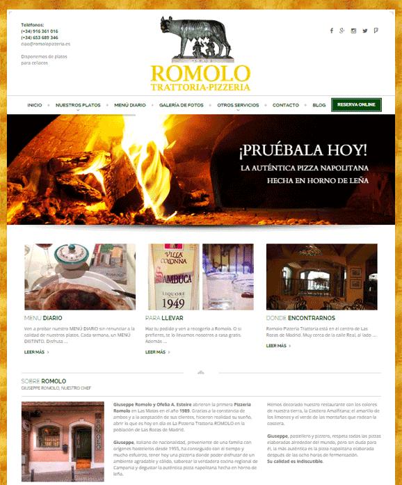 web romolo pizzeria